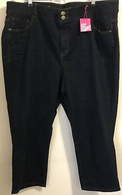 NWT! Lane Bryant Jeans Plus Size 26 Short Straight Leg Tighter Tummy Technology