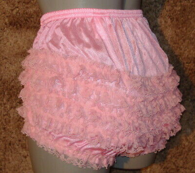 NEW BLACK PIRATE FRILLY RUFFLED KNICKERS SISSY PANTIES SIZE LARGE