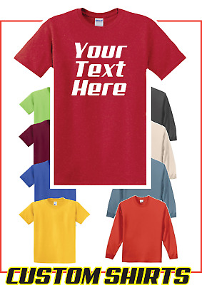 Personalized Custom Print Your Own Text T-Shirt -Customized Tee- FREE SHIP- PC54