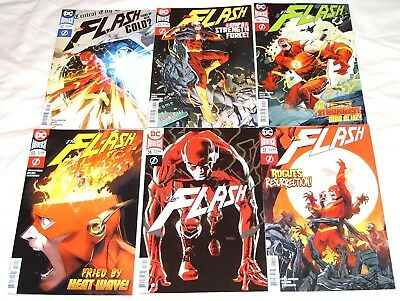 "FLASH #52,53,54,55,56 (foil),57 (2018) ""Faster Than Thought""/""Grips of Strength"""