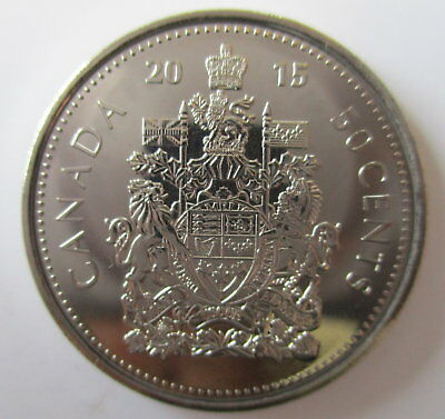 2015 Canada 50 Cents Proof-Like Half Dollar Coin