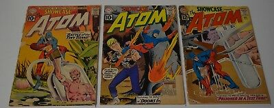 Showcase #34 #35 #36 1st 2nd 3rd Appearance The Atom DC Silver Age Comic Lot