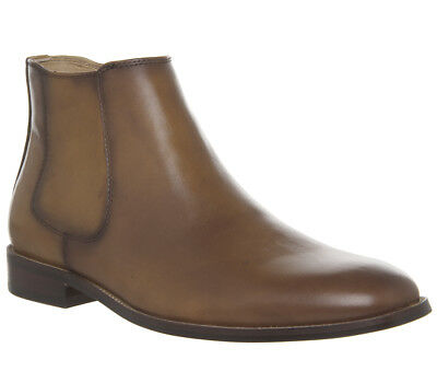 Mens Ask The Missus Inlet Chelsea Boots Tan Leather Boots