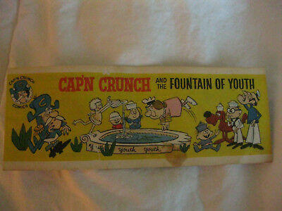CAPTAIN CRUNCH comic book from cereal box FOUNTAIN OF YOUTH 1963