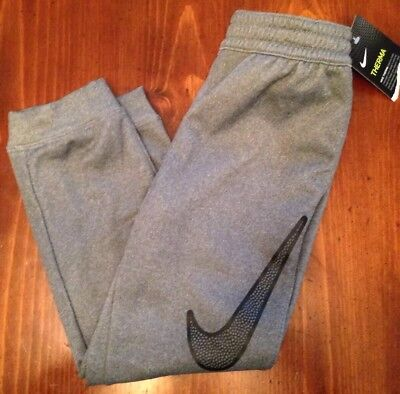 NWT Nike Kids Youth Therma Pants 6/M Dk Grey Heather