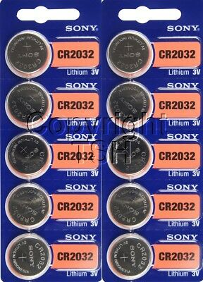 10 CR 2032 SONY Lithium Watch Batteries FREE SHIP