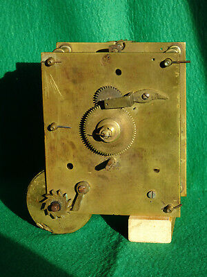 Brass Fusee Clock Movement For Restoration