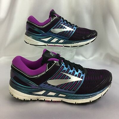 9e742d406cf BROOKS TRANSCEND 5 Black Purple Multi color running walking shoe women s 8  -  39.93