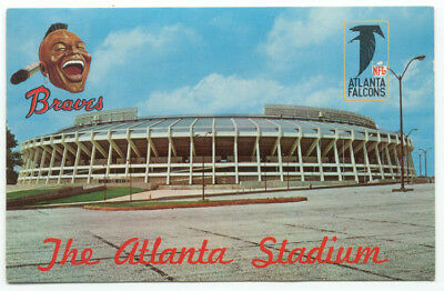 The Atlanta Stadium Braves Baseball Falcons Football Postcard - Georgia