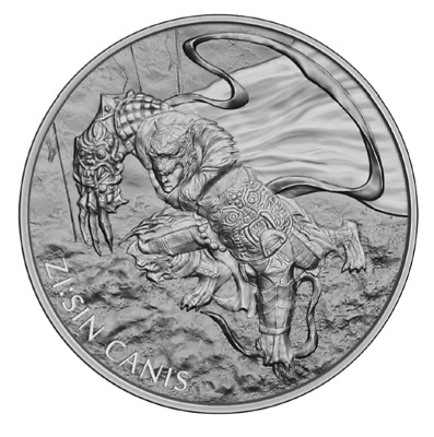CANIS ZI:SIN  THE TWELVE GUARDIANS 2018 1 Clay 1 oz Pure Silver BU Round COIN