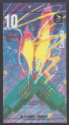 CANADA BOOKLET BK144a 10 x 42c OLYMPIC WINTER GAMES, FLAME AT RIGHT, GLUED FLAP