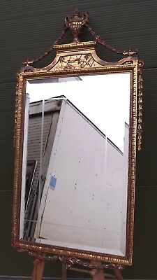 Decorative Gilt-Framed Wall Mirror in the Antique Neoclassical Style