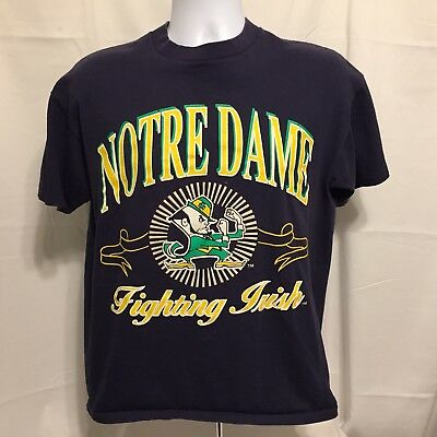 Vintage Logo 7 Notre Dame Fighting Irish Mens T-Shirt Sz Large 1990s Made In USA