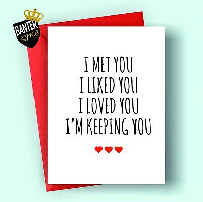 V51 Anniversary Valentines Day Card Rude Funny Husband Boyfriend Wife Girlfriend