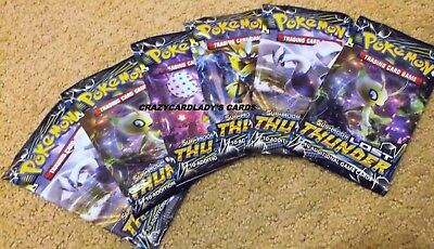 Pokemon Sun & And Moon Lost Thunder Booster 1/6 Box 6 Pack Lot Free Shipping