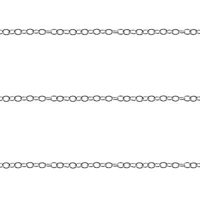 Sterling Silver Anchor Chain 1.0mm For Jewellery Making 1M 3M