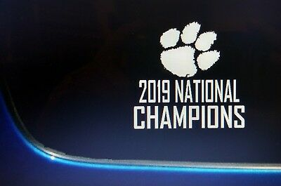 Clemson Tigers 2019 NATIONAL CHAMPIONS Decal Sticker Vinyl window FREE SHIPPING