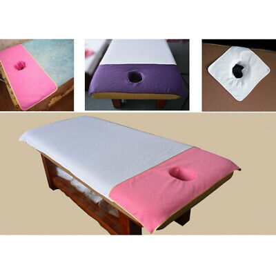 Washable Reusable Massage Bed Table Sheet Pad Mat Cover w/ Face Breathable Hole