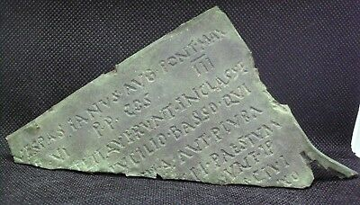Ancient Roman Bronze Diploma Fragment From Time Of Vespasian - 69/79 Ad