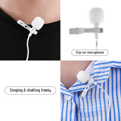 Mini Tie Lapel Clip-on Wired Stereo Condenser Microphone Mic 3.5mm Jack A9Z1