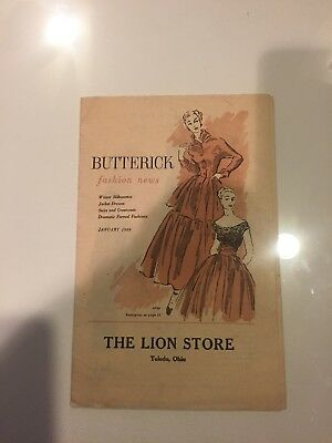 Butterick Fashion News, 1949 The Lion Store Toledo Ohio Ladies Clothing