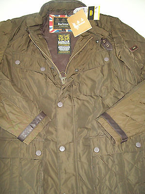 Barbour International Bikiel Quilted Jacket NWT Large $349 Rustic Dark Brown