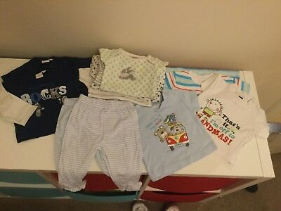 baby boys clothing bundle 0-3 months 12 items