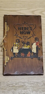 VINTAGE 1941 Here's How Mixed Drinks Recipe Cook Book Wood W C Whitfield 77 Pgs