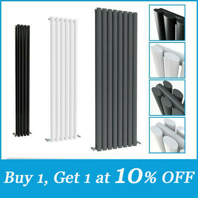 Vertical Horizontal Designer Radiator Oval Column Tall Upright Heating Rads UK