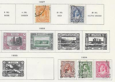 7 Jordan Stamps from Quality Old Album 1927-1934