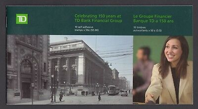 CANADA BOOKLET BK309 10 x 50c TORONTO DOMINION BANK IN PRESTIGE BOOKLET