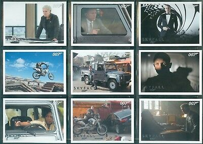 James Bond Autographs & Relics Skyfall Silver 110 Card Parallel Set