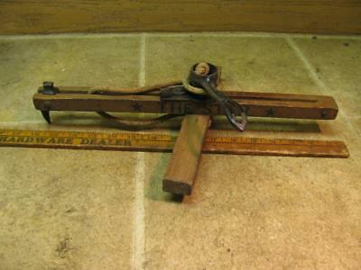 Vintage *The Star* Wood and Cast Iron Carpet Stretcher Tool