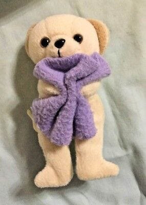 """Snuggle Teddy Bear 2000 Lever Brothers 3.5"""" Stuffed Bean Plush with Blanket VTG"""
