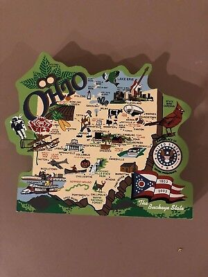 The Cat's Meow ~ Ohio State Map ~ Signed 2003 ~ Stamped 20th Anniversary