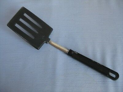 "Vintage Ekco slotted spatula turner black nylon 10 1/2""  utensil USA"