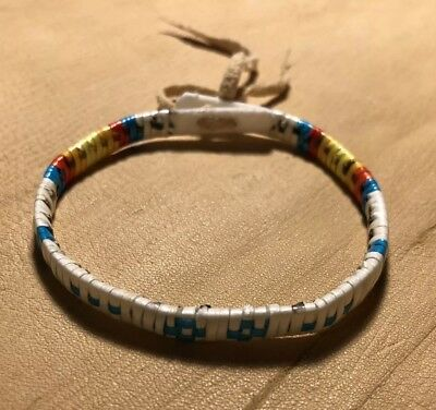 1 Totally Awesome Lakota Sioux Porcupine Quilled Bracelet Quilled On Rawhide