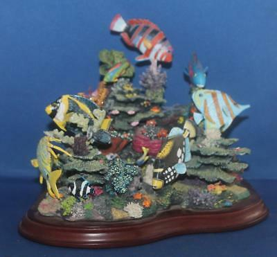 Danbury Mint Splendors of the Reef Tropical Fish Sculpture Very Colorful - Flaw