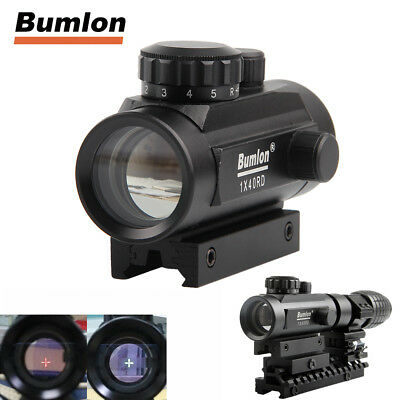 Tactical Red & Green Dot Sight Rifle Scope w/ 11mm & 20mm Mount For Airsoft