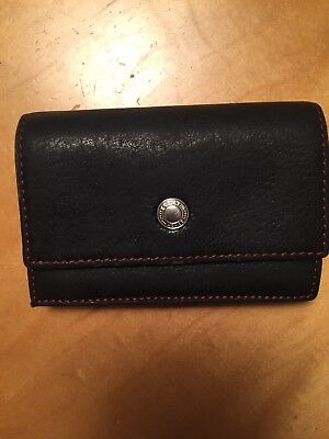 Coach Black Leather credit card holder. Expandable