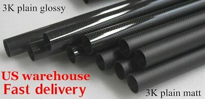 3k Carbon Fiber Tube OD 5mm - OD 20mm x 500mm Carbon Round Pipe(Roll Wrapped) US
