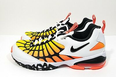 reputable site d0b11 098db NIKE AIR MAX 120 Mens Running Shoes White Black Orange Size 9.5