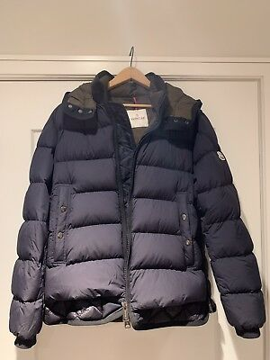 19a584451 MONCLER MEN'S Jacket Navy Blue , Size 6 USXXL AUTHENTIC IN ORIGINAL ...