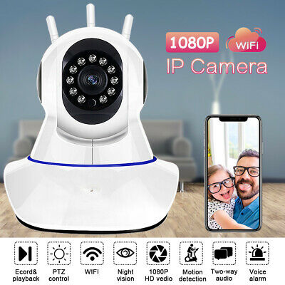 1080p WLAN Wifi IP Kamera CCTV Sicherheit Webcam Home Baby/Haustier Monitor CAM