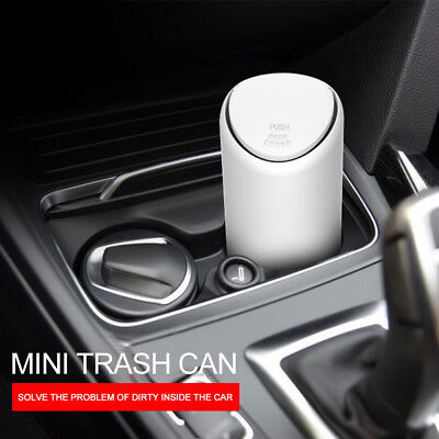Car Trash Can with Lid Silicone Holder Litter Bin Storage Bag Organizer 2 Color