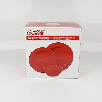 New 212097  Dinnerware Set 12Pc Coca Cola (2-Pack) Action Wholesale Discount