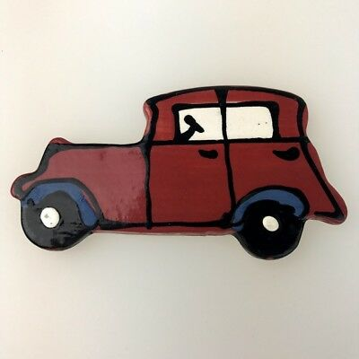 CERAMIC CAR - Classic/Vintage - Red ~ Mosaic Inserts, Art, Craft Supplies