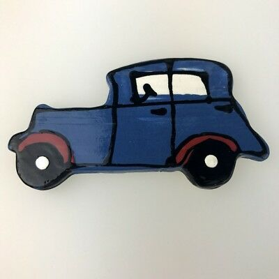 CERAMIC CAR - Classic/Vintage - Blue ~ Mosaic Inserts, Art, Craft Supplies