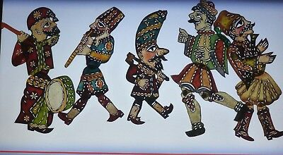 LOT w/ 5 TURKISH SHADOW PUPPET>SHADOW PUPPETS>OTTOMAN PERIOD/> VERY RARE