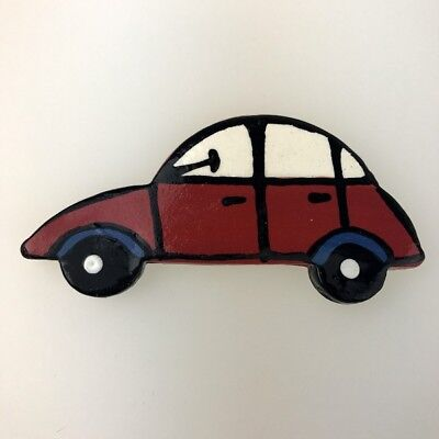 CERAMIC CAR - VW Beetle - Red ~ Mosaic Inserts, Art, Craft Supplies